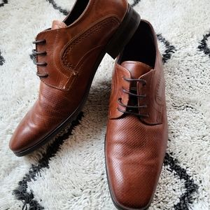 Tuscan oxford brown leather mens shoes